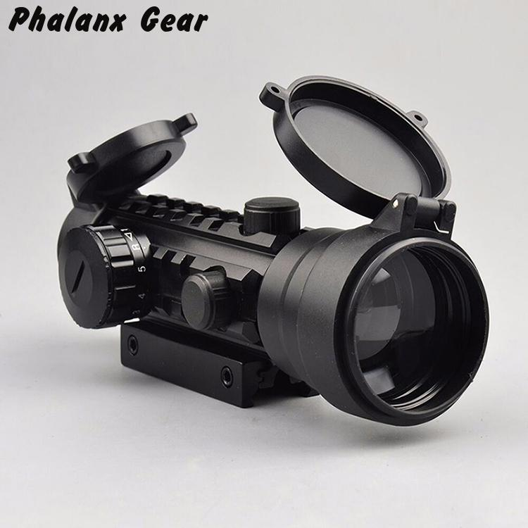 Sight Rod Objective Diameter 2x42mm 42 Mm Red Dot Scopes Magnification 2x Target Mirror For Hunting