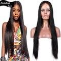 9A brasileño de la virgen del cordón del pelo humano pelucas Glueless del frente del cordón peluca media / peinado de lado recto sedoso pelucas para mujeres negras