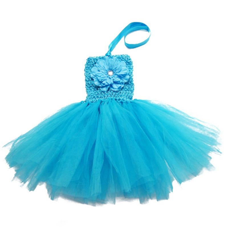 Baby Girl/'s infant Tutu Dress with a peony flower in front toddler/'s summer