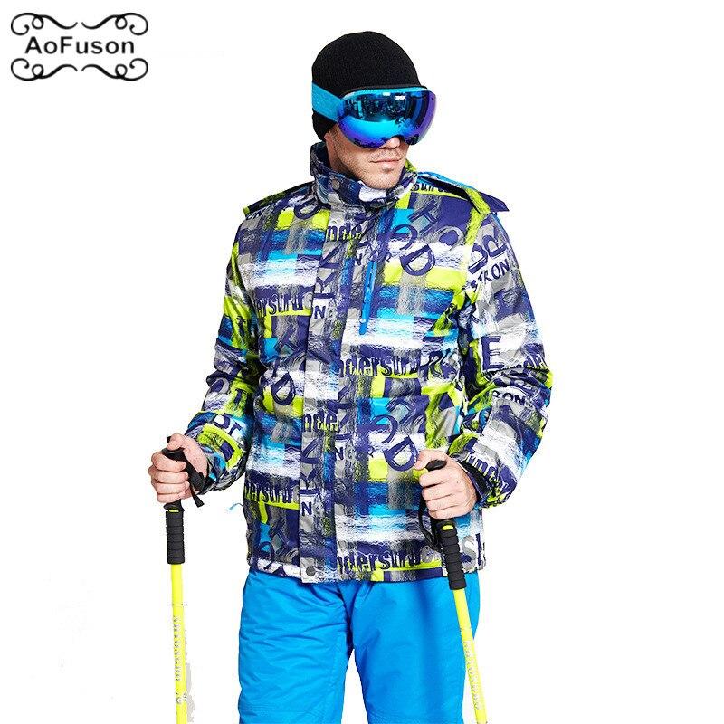 Vêtements de ski pour hommes veste coupe-vent chaud imperméable respirant Snowboard ski costume ensemble hiver neige Snowboard epaissir manteau Top