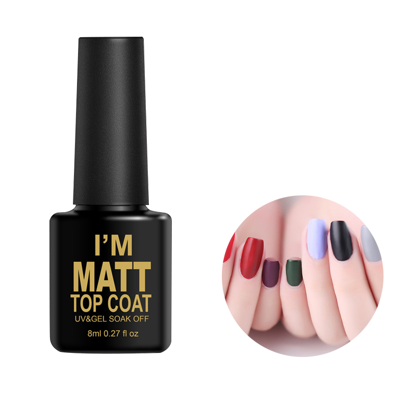 Matte Nail Art Polish Transparent Lacquer Clear Nail Varnish Frosted ...