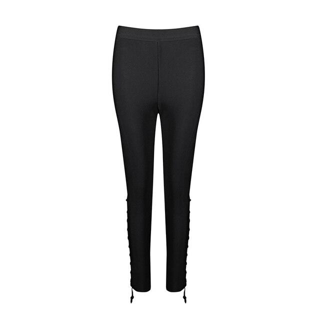 cf620d5de9436 Free Shipping Happy New Year 2017 Fashion Women Black Rayon Bandage Pants  Wholesale