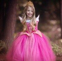 Newest Deluxe Costume Dress 2016 Children Sleeping Beauty Costume Princess Aurora Dress Women Costume