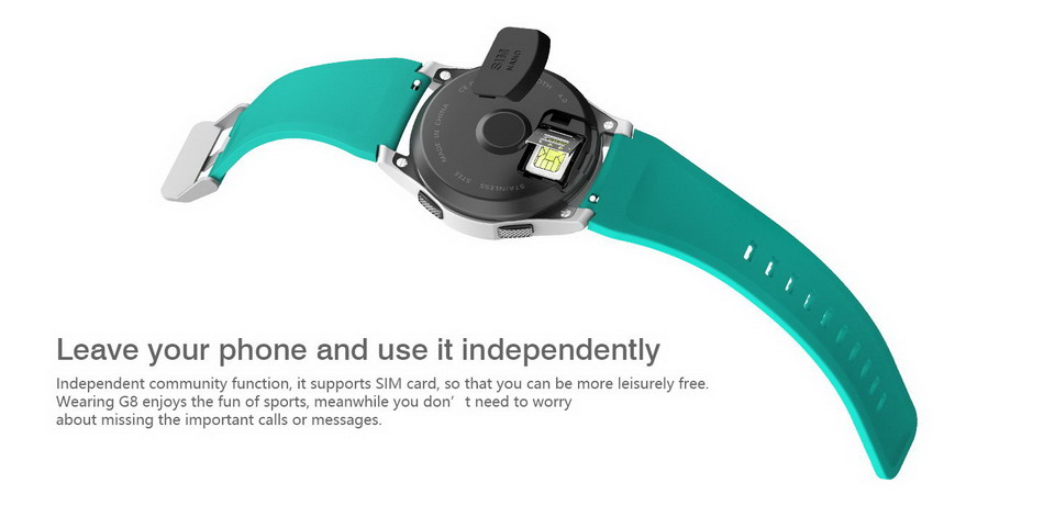 2017 NEW No.1 G8 Smartwatchs Bluetooth 4.0 SIM Card Call Message Reminder Heart Rate Monitor Smart watchs For Android Apple   (4)