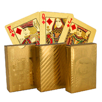 Golden Playing Cards Gold Foil Poker Set High Quality With Wooden Box Playing Cards Pokerstars Party