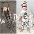 2017 boys and girls cotton suit children's little monster spring fashion baby boys & girls cartoon sets