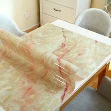 Imitation marble tablecloth Waterproof anti-scalding European table mat PVC soft plastic cover party decoration pad