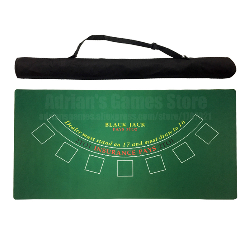 180*90cm Blackjack Rubber Poker Table Cloth Black Jack  Layouts 6 Players Poker Tablecloth Mat Tapis