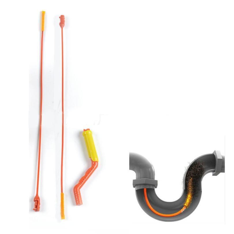 Home Bathroom Pipe hair cleaner Drain Starter Kit Flexible Drain for Shower Sink Bathtub Toilet Hair Removal tools may1
