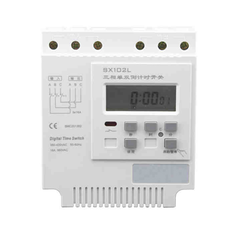 3*380VAC,3*16A Three-phase Current Countdown Timer Switch,Timer Controller,LCD Display Three Phase Current Digital Time Switch 100% new and original e3x zt11 e3x hd11 omron photoelectric switch 12 24vdc 2m