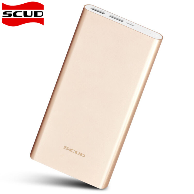 Scud Power Bank 20000mAh Portable Ultra Thin Polymer Metal Alloy Powerbank Battery Charger Backup For iPhone 8 X Samsung Xiaomi