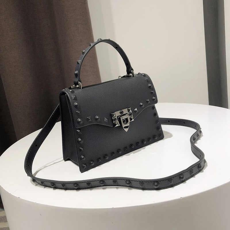 e507207b146 Jelly Bags For Women Solid Flap Fashion Messenger Bag Rivet Women Shoulder  Bag Small Big Lady Handbags High Quality Bags Women's