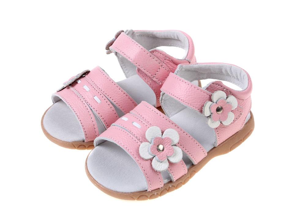 Сандалии для девочек из натуральной кожи; цвет белый, розовый, красный; летняя обувь для девочек с открытым носком и цветами; детская обувь; chaussure zapato menina