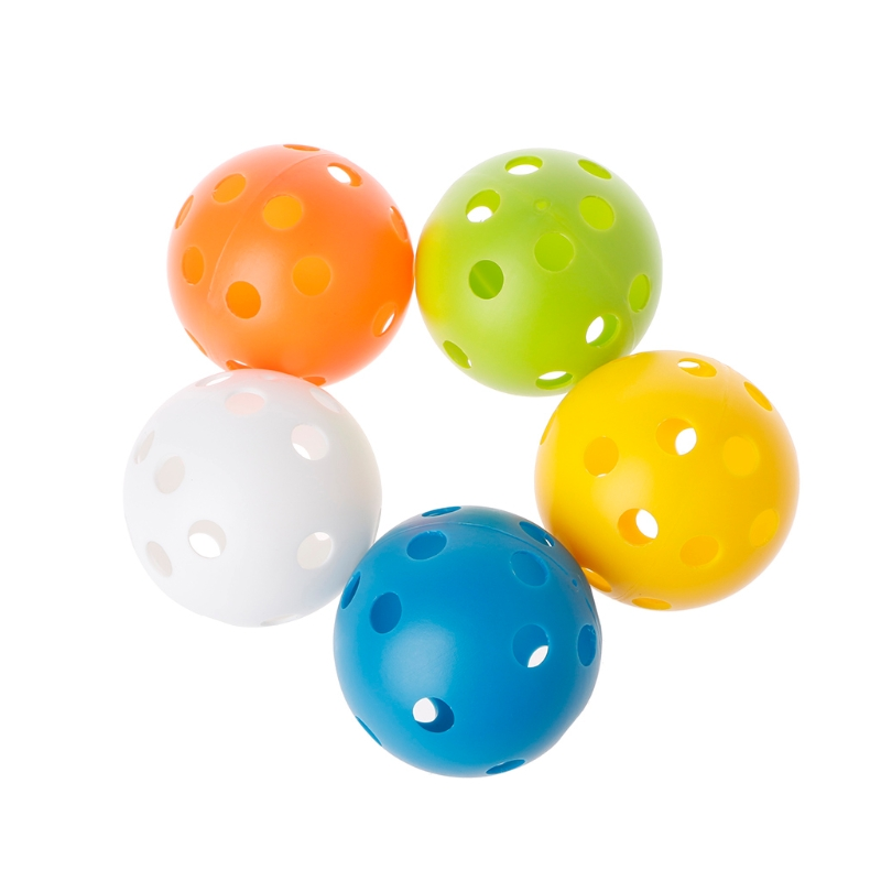 5 Pcs Practicing Hollow Golf Balls Kids Playing Toy Indoor Outdoor Training Color Random delivery