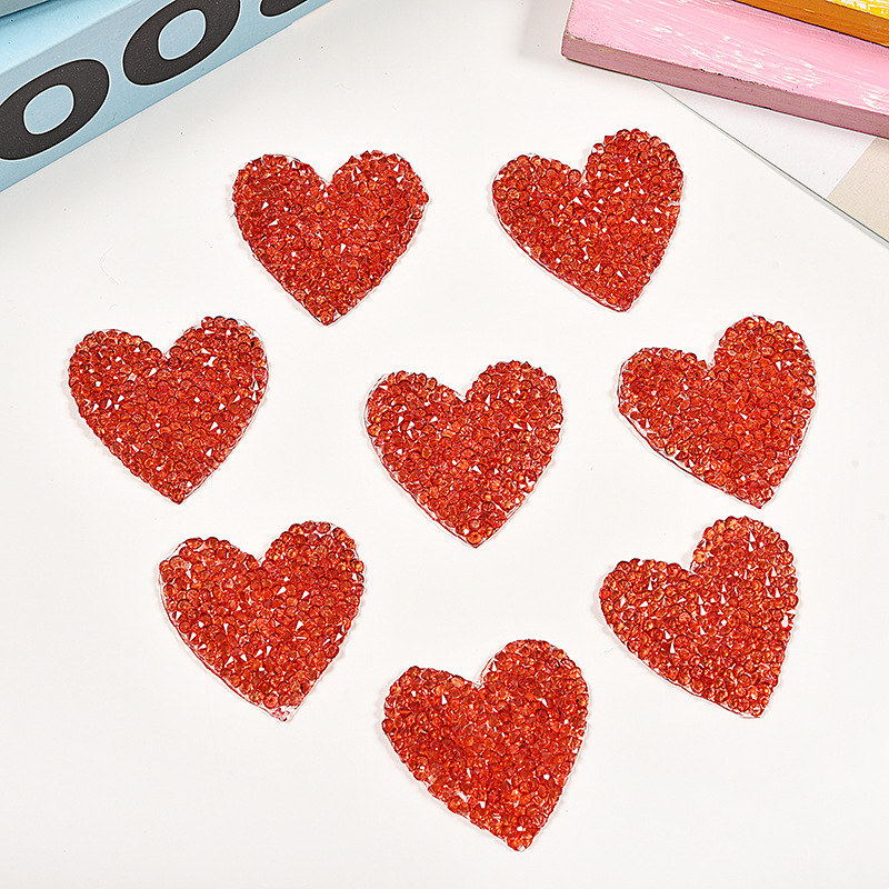 Detail Feedback Questions about 5pc Crystal Rhinestone Small Red Heart Love  Sequin Patches for Clothing Iron on Clothes Appliques Badge Stripes Diamond  ... cf0a2c779ffa