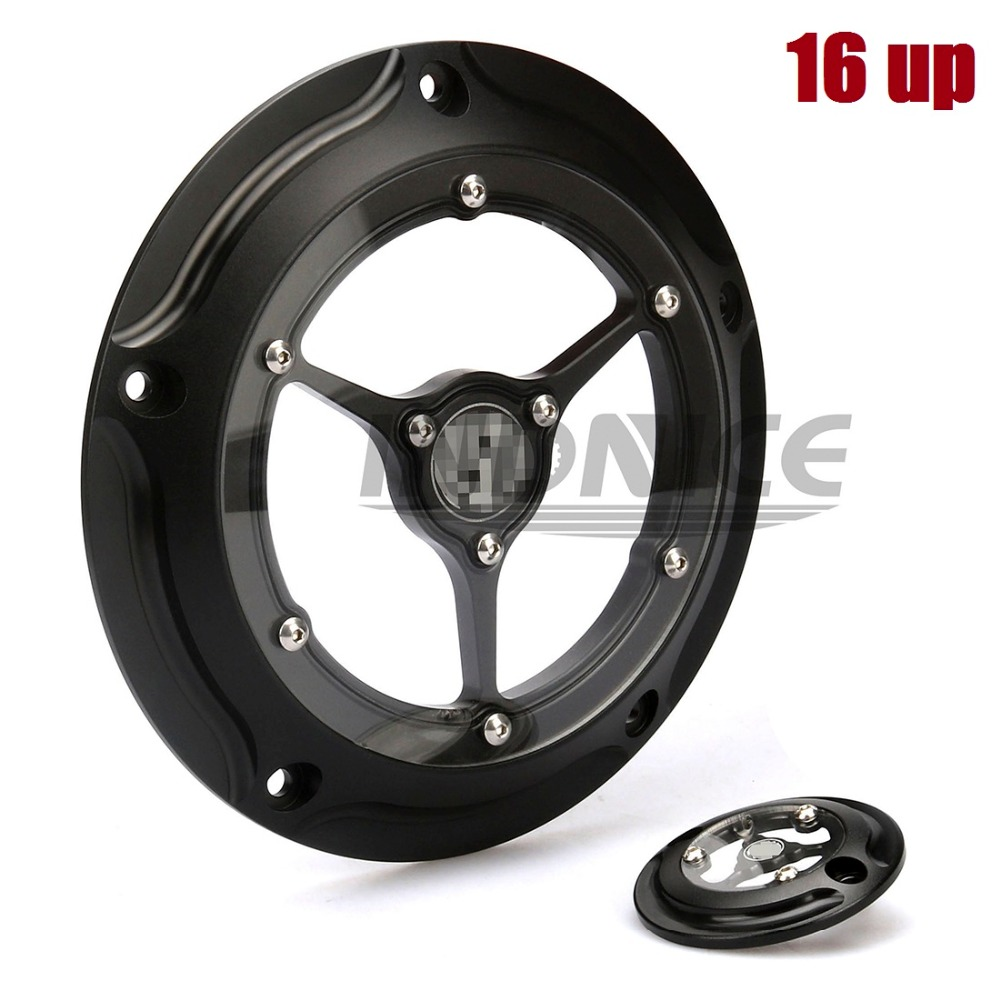 Motorcycle derby cover 5-Hole for harley road king edge cut timer cover for harley touring street glide derby cover For Harley F 5 holes cover cnc beveled black motorcycle derby cover