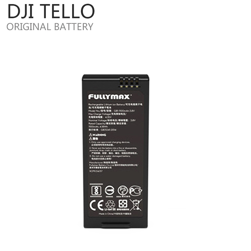 Original DJI Tello Drone Flight Lipo Battery 1100 mAh 3.8V Lipo Designed Adapter