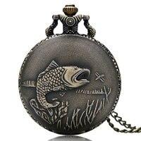Кварцевые карманные часы с подвеской и цепочкой для рыбалки