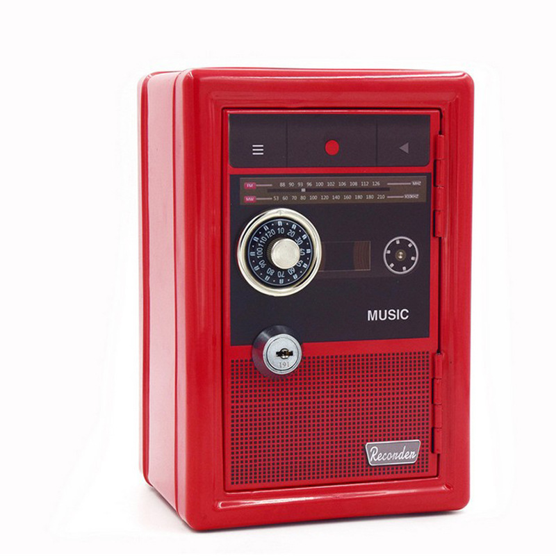 Mini All Metal Children's Coin Storage Safe Password Mechanical Unlock Safe Home Bedside Placement Key Cash Jewelry Safe