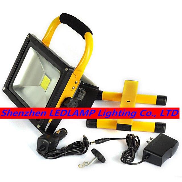 8 шт./лот 30 Вт Перезаряжаемые Светодиодный прожектор Водонепроницаемый напольный аварийного свет на природе света DHL Бесплатная доставка