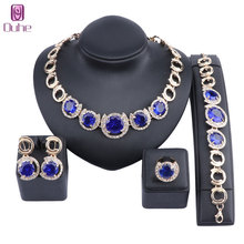 hot deal buy dubai gold color bridal zircon crystal jewelry sets wholesale fashion african beads jewelry set costume woman design wedding