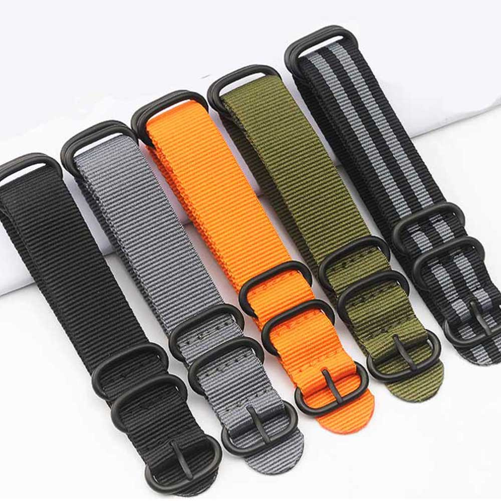 1pcs Nylon Resistant Straps 20mm 22mm 24mm Nylon Band Watch NATO Strap Zulu Watchband Buckle Ring high quality leather nylon nato watchbands 18mm 20mm 22mm 24mm 7 colours watch sports watch band straps accessories 1pcs tool