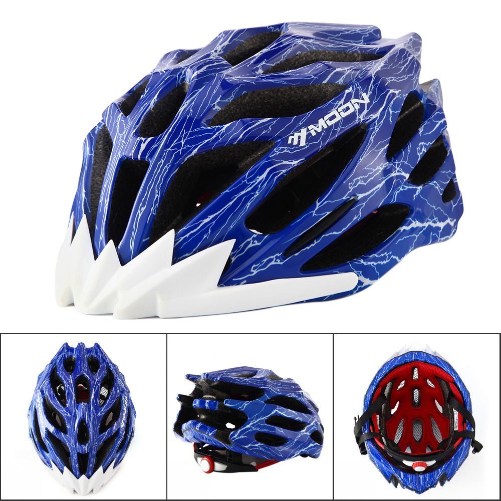 MOON MTB Road Mountain Bike Bicycle Ultralight Cycling Helmet Riding Bike Sport Head Protect Bicycle Integrally-molded moon top quality cycling helmet bicycle insect net bicycle helmet ultralight bike helmet for road and mountain mtb [ch12]