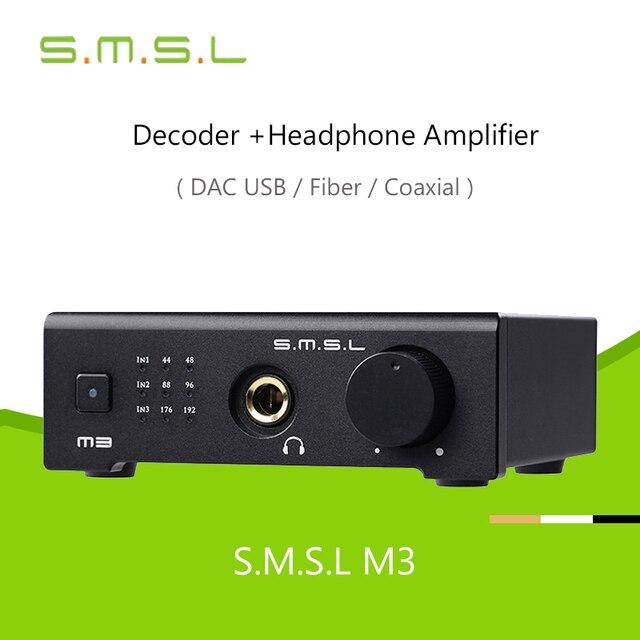 М3 Декодер Усилитель Для Наушников Усилитель SMSL CS4398 DAC OTG/USB ПК/Оптический/Коаксиальный Все-в-один Hifi 24Bit 96 КГЦ USB Hd Для Hifi Аудио