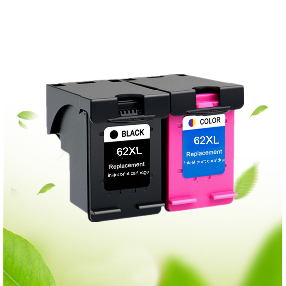 2PK Compatible For 62XL Ink Cartridge For Hp62 62 5640 5660 7640 5540 5544 5545 5546
