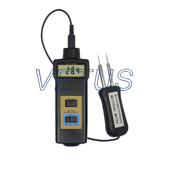 MC-7806 wholesale retail Moisture Meter pin type moisture tester mc 7806 wood moisture meter detector tester thermometer paper 50% wood to soil pin