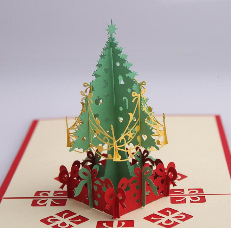 10pcs 3d christmas tree handmade kirigami origami for for 3d christmas cards to make at home