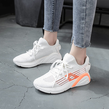New Product Hollow Qut Flying Weave Fitness Running Shoes Women Casual Sneakers For Sport Breathable M