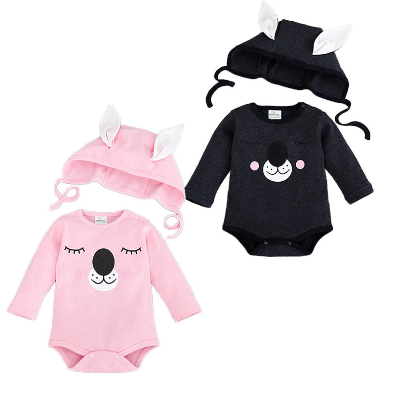 Newborn Baby Boy Clothes Autumn Cotton Baby Bear Costume Animal Rompers For Baby Boys Girls Jumpsuit+Hat Newborn Clothing Set cotton baby rompers set newborn clothes baby clothing boys girls cartoon jumpsuits long sleeve overalls coveralls autumn winter