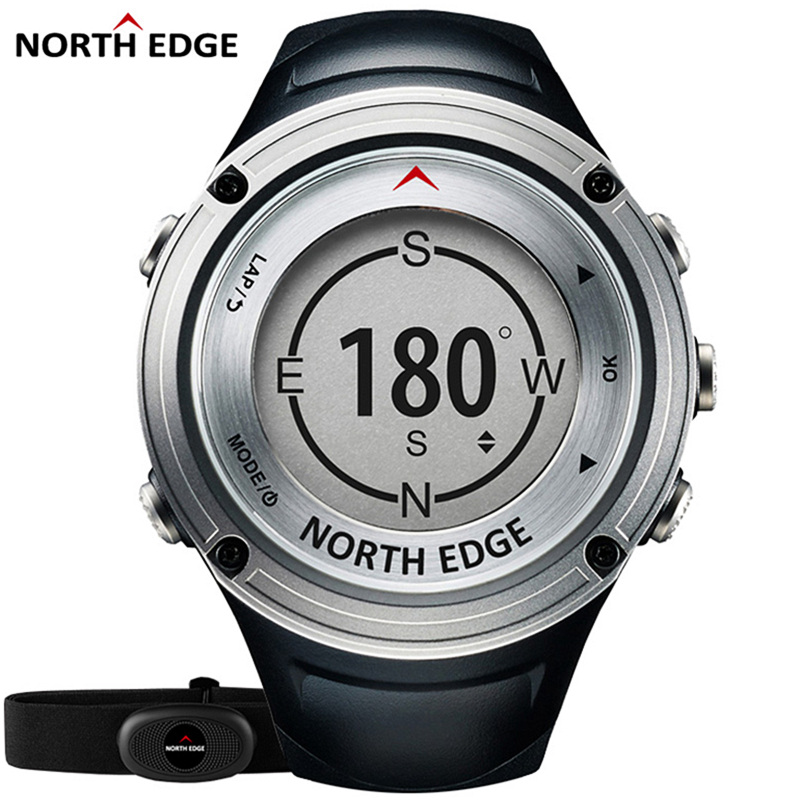 NORTH EDGE High Quality Brand Sports Watch Outdoor Travel GPS Bluetooth Men Watches military Digital-Watch Swimming Relogio free drop shipping 2017 newest europe hot sales fashion brand gt watch high quality men women gifts silicone sports wristwatch
