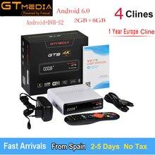 GTmedia GTS Android TV OS TV Box Amlogic S905D Android 6.0.2 2GB RAM + 8GB ROM 2.4G + BT4.0 Support 4K H.265 DVB-S2 Satellite