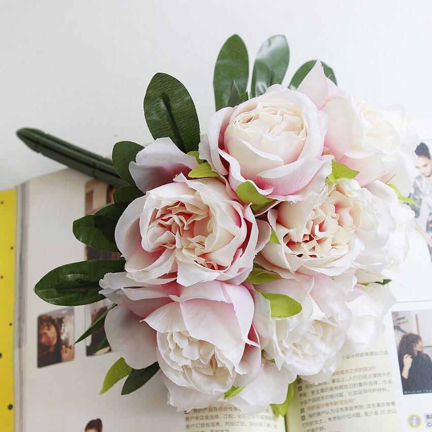 1 Bouquet DIY Жасанды гүлдер Роза Жібек - Мерекелік және кешкі заттар - фото 6