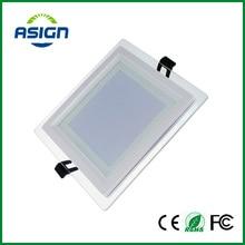 Regulable LED Downlight Panel Square Luces Del Panel Del Alto Brillo Empotrada Lámparas de Techo de Cristal Para El Hogar SMD5730 AC110V AC220V