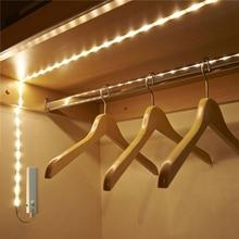цены 1M 30 LED Strip Motion Sensor Strip Light Dual Mode Waterproof LED Light Warm White Human Body Sensor Lights