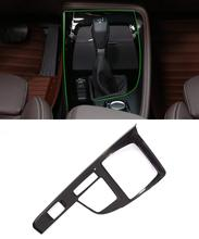 Carbon Fiber Car Center Console Gear Shift Panel Cover Trim 1pc for BMW X1 F48 20i 25i 25le The Left Hand