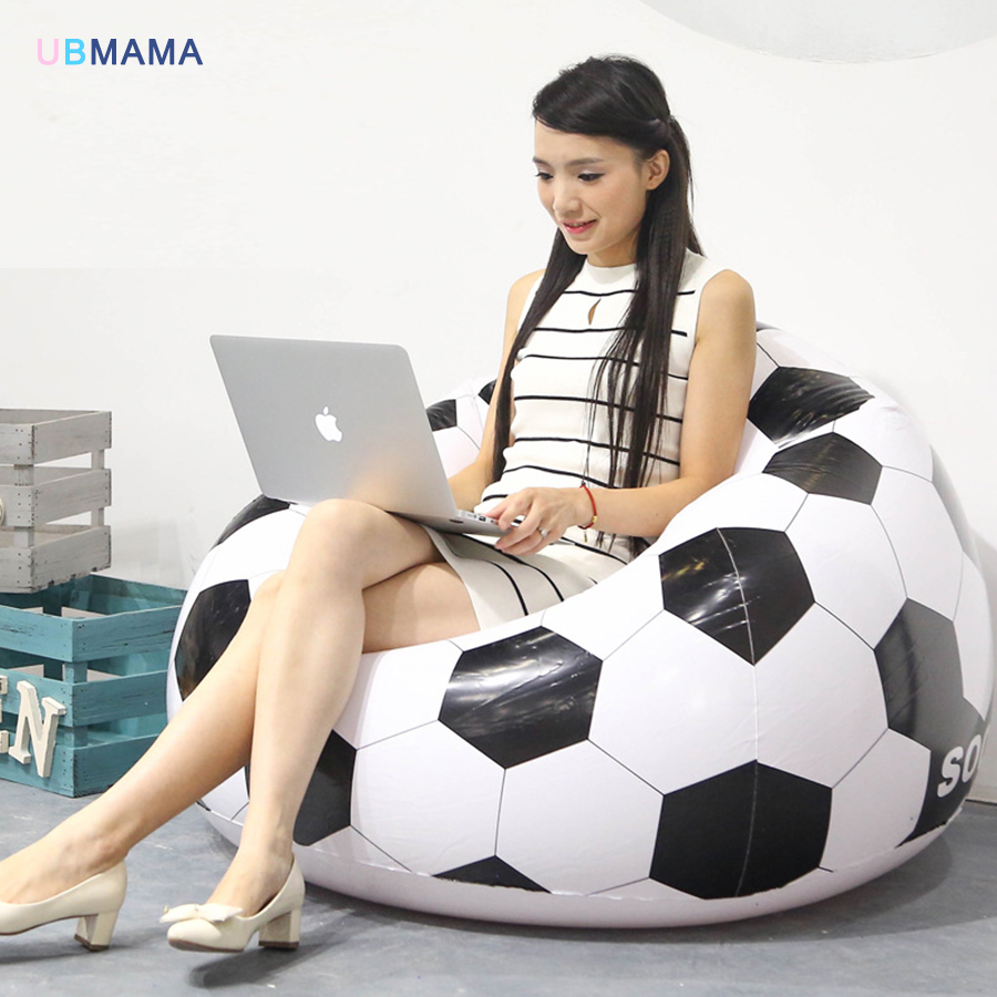 Plastic Material Simple Creative And Comfo Football Basketball 110*80*40cm Large Size Inflatable Sofa Lazy Sofa Thickening Chair