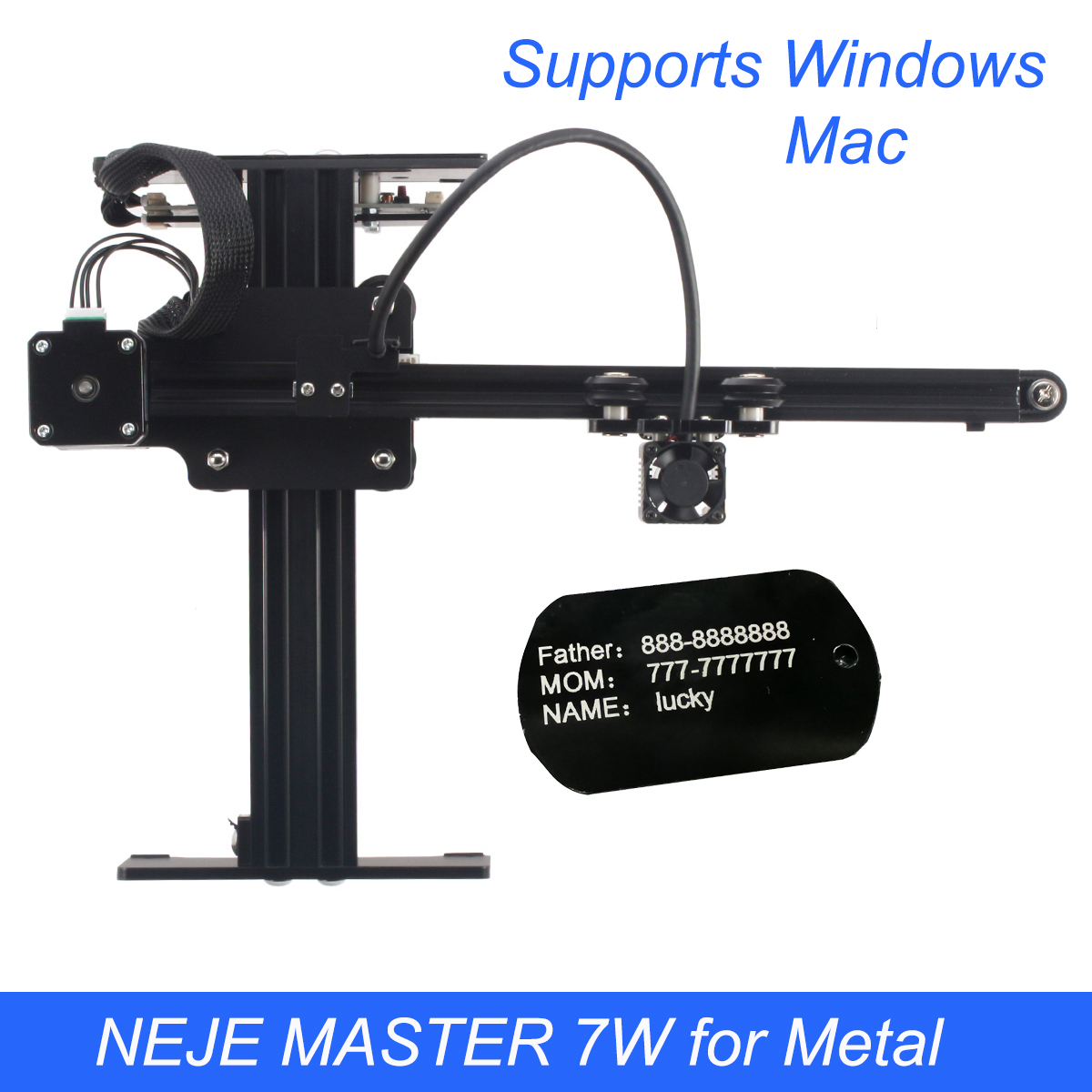 Machine de gravure Laser NEJE MASTER 3500 mW/7 W bricolage Mini CNC routeur de bois de coupe graveur de bureau pour métal/bois/plastiques