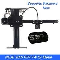 Neje mestre 3500 mw/7 w máquina de gravura do laser diy mini cnc corte madeira roteador desktop gravador para metal/madeira/plásticos
