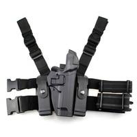 Tactical M92 Leg Holster Right Thigh Paddle Belt Level 3 Lock Duty Pistol Gun Holster W