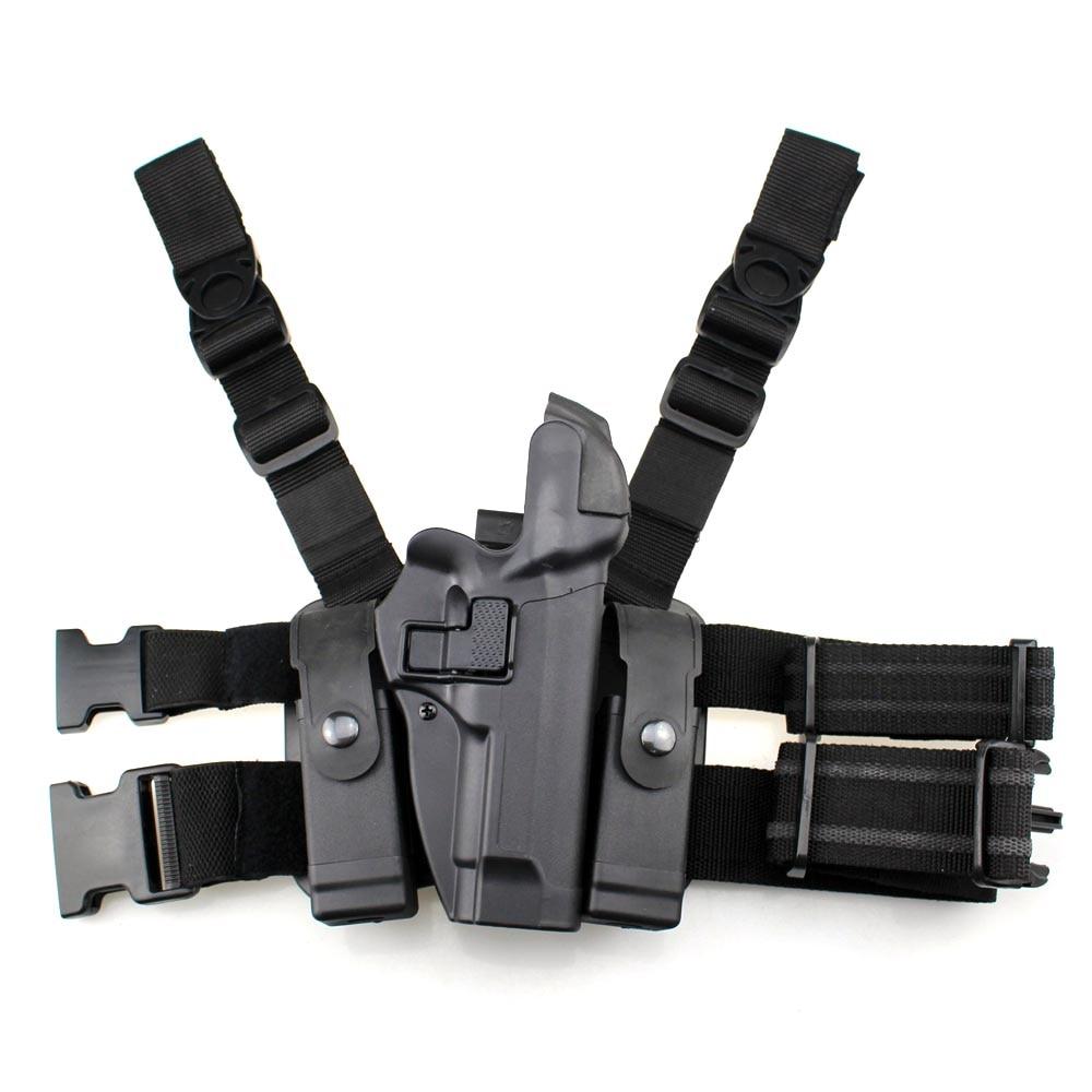Tactique M92 Jambe Étui Cuisse Droite Pistolet Holster Paddle Ceinture Niveau 3 Verrouillage Duty Étuis de Pistolet Magazine Pouch pour Beretta m9 M92