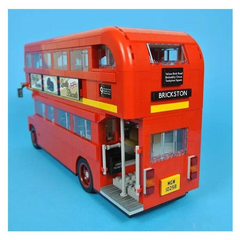 WAZ Compatible Legoe Genuine Technic Series 10258 Lepin 21045 1716pcs London Bus building blocks Figure bricks toys for children waz compatible legoe city 60160 lepin 2017 02062 460pcs jungle mobile lab figure building blocks bricks toys for children