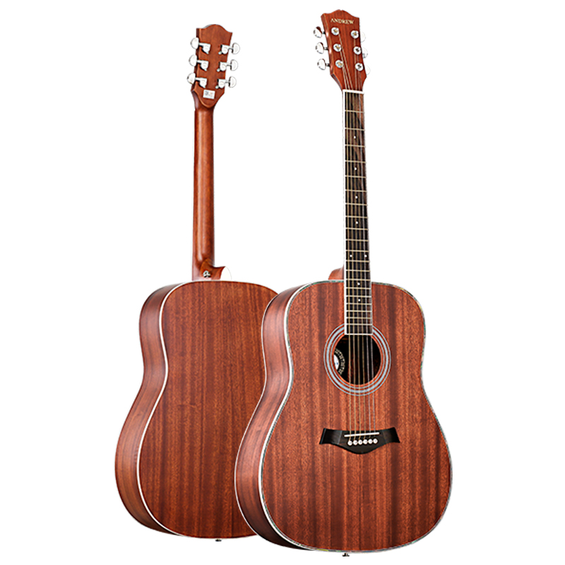 folk guitar beginner students adult introduction self taught 41 inch round horn acoustic guitar. Black Bedroom Furniture Sets. Home Design Ideas