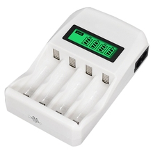 4 Slots Smart Intelligent Battery Charger Fast Charge For 1.2V Aa / Aaa Nicd Nimh Rechargeable Battery Lcd Display ( Eu Plug)
