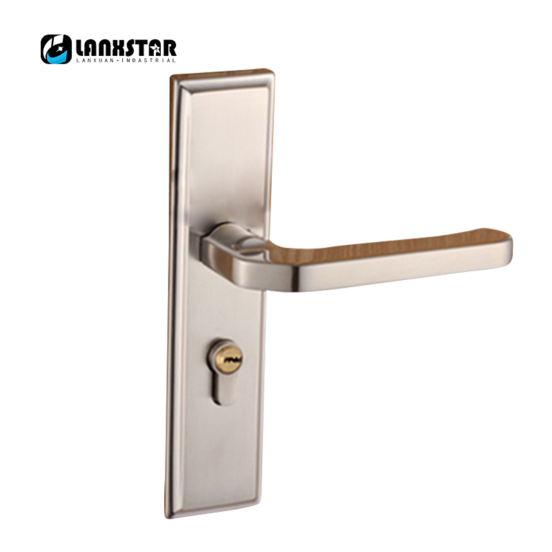 Fine Stainless Steel Locks Interior Room Doors Bedroom Modern Minimalist Wooden Door Handle Lock europe standard 304 stainless steel interior door lock small 50size bedroom big 50size anti shelf strength handle lock