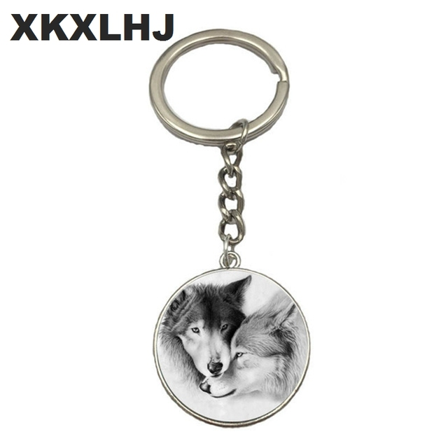 Wolf Moon Keychain Wolf Moon Cabochon Glass Product Keyring Full Moon  Jewelry Wolf Pendant Wolf Key Chain Ring 32c444430
