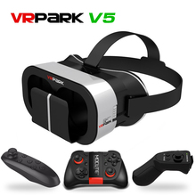 VRPARK V5 Good Casque Gerceklik Digital Actuality Glasses Goggles 3D Field VR Headset Helmet For Smartphone Google Cardboard Lense